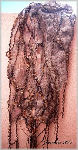 Handmade cobweb scarf